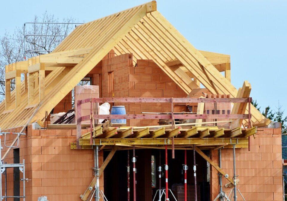 housebuilding, site, construction work